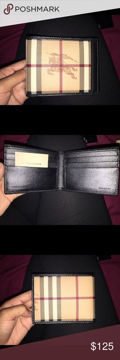 Men's Burberry Wallet Brand New Men's Burberry Wallet. Great gift to give to your Father,Brother,Husband or Boyfriend ❤️. Great Price. Never Used. Burberry Accessories Key & Card Holders