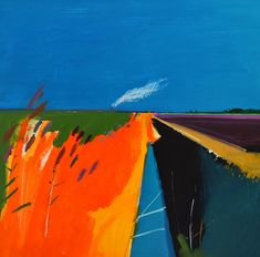 Fred Ingrams is an artist living in Norfolk mainly painting in The Fens. Abstract Landscape Painting, Abstract Watercolor, Landscape Art, Landscape Paintings, Abstract Art, Acrylic Paintings, Impressionist Paintings, History Of Modern Art, River Painting