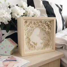 Pregnant Women Paper Cut Light Box Shadow Box Perfect Gift
