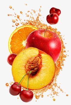 super Ideen Obst Illustration realistisch - Fruit - Everything with Fruit - Fruit Drinks, Fruit Snacks, Fruit Juice, Fruit And Veg, Fruits And Veggies, Cherry Fruit, Fresh Fruit, Fruit Illustration, Food Illustrations