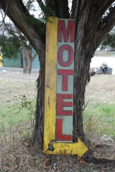 Motel sign made from reclaimed plywood by KingstonCreations, $180.00