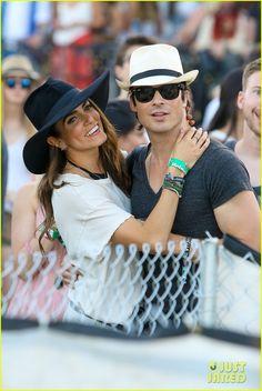Ian Somerhalder & Nikki Reed Kiss Like Crazy at Coachella 2015