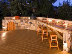 Outdoor home bar design plans