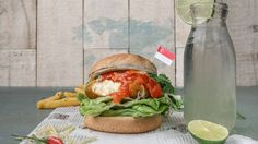Vegan chili crab burger