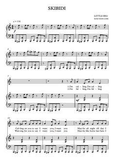 Little Big - Skibidi sheet music for piano [PDF] Printable Sheet Music, Digital Sheet Music, Digital Piano, Piano Sheet Music, How To Make Notes, Music Notes, Song Lyrics, Songs, Big