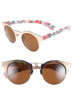 bad0558ec462 Vintage glam meets floral Sunglasses Flower Sunglasses, Retro Sunglasses,  Cheap Ray Ban Sunglasses,