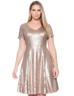 089b627a60f24 Studio Sequin Fit and Flare Dress