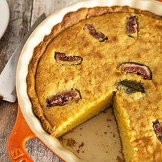 Torta de frangipane com figos