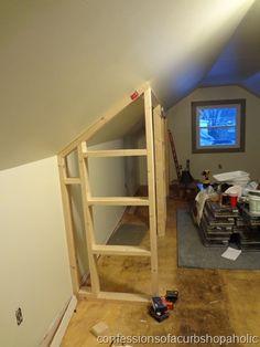 Attic Room Divider Slanted Ceiling