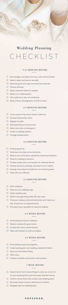 It's overwhelming when you're not sure what's next on the to-do list, so I've created a general timeline for brides out there who need the reminders or reassurance that they're already on track.                                                                                                                                                                                 More