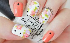 Easy Floral Nails (w
