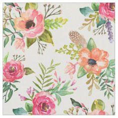 Boho Floral   Fabric