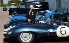 Jaguar D-Type Le Mans 1957 1-2-3 finishers are reunited for the first time in 60 years with chief test driver Norman Dewis #classiccar #Jaguar #LeMans