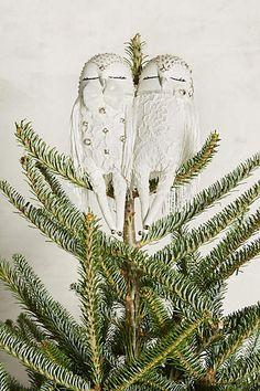 Owl Couplet Tree Topper - anthropologie.com