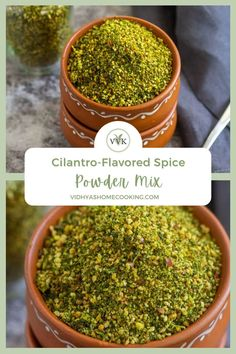 Flavorful homemade zero-oil kothamalli podi or coriander/cilantro-flavored spice powder mix recipe! It is a versatile spice blend that you can relish as a side or jazz up other dishes! Check out how to make this podi or the spice powder with detailed step-wise pictures.
