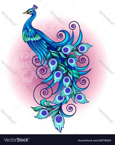 Find Vector Illustration Beautiful Peacock Long Tail stock images in HD and millions of other royalty-free stock photos, illustrations and vectors in the Shutterstock collection. Thousands of new, high-quality pictures added every day. Peacock Vector, Peacock Images, Peacock Pictures, Peacock Drawing Images, Peacock Wall Art, Peacock Painting, Free Vector Images, Vector Free, Peacock Tattoo