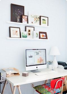 lovely~~ photos on shelves are brilliant, keep it white background always