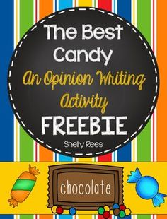 Opinion Writing is made fun, simple, and organized with this sweet opinion writing freebie!  This packet will get your students excited about writing, and you will love the ease of preparation for the activity. Your students will write a well-organized opinion paragraph, which is perfect for a bulletin board display or to keep as a writing sample.This packet includes:Teacher directionsThe Best Candy prewriting organizerThe Best Candy writing paper and illustration sheetThis activity is…
