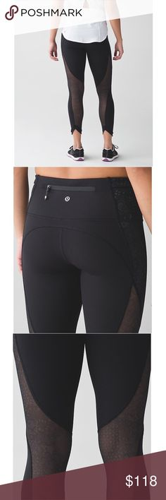 NWT. Lululemon Run With The Sun Tight NWT. Super cute mesh cut out design. Full-On Luxtreme material. Size 4. Never worn, in perfect condition! lululemon athletica Pants Leggings