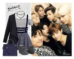 """""""Day out w/ GOT7"""" by a-kookie ❤ liked on Polyvore featuring Forever 21 and Marc Jacobs"""