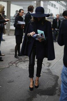 cape coat #streetstyle