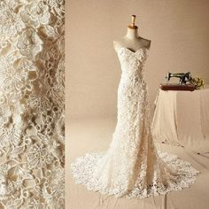 Vintage Champagne Lace Strapless Sheath Sweetheart Wedding Dress Sweep Train Free Replacement Within Three Days Can Be Customized Modest Wedding Gowns Off The Rack Wedding Dresses From Thefashiones, $124.61| Dhgate.Com