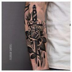 dagger tattoo blackwork - Pesquisa Google