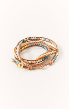 bracelet with stones by CHAN LUU #planetblue
