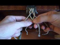 Плетение косы из 4 нитей - YouTube