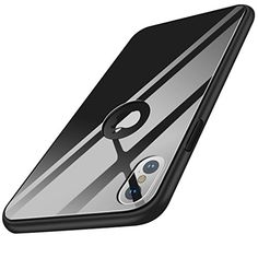 iPhone X Case Crystal Series Black Tempered Glass Back and TPU Shock Absorption for sale online Iphone Deals, Iphone 10, Iphone 8 Plus, Best Amazon, Amazon Deals, Amazon Tribe, Hybrid Design, Iphone Hacks, Tempered Glass Screen Protector