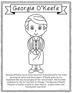 okeefe coloring pages - photo#47