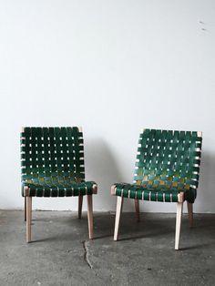 Poltronas de couro 'Woven' Designer: Julie Carlson
