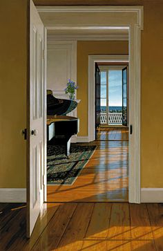 """""""Lilacs""""  by Edward Gordon -   I love Lilacs!!  and yellow walls...and this painting. :)"""