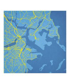 Look what I found on #zulily! Boston Map Print by City Prints, $35-$140 !! # #zulilyfinds