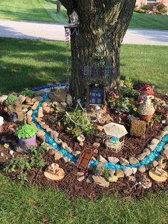 50 breathtaking miniature projects in the Fairy Garden # stunning . - 50 breathtaking miniature projects in the Fairy Garden - Fairytale Garden, Kids Fairy Garden, Magic Garden, Fairy Garden Houses, Gnome Garden, Fairies Garden, Garden Ideas Kids, Colourful Garden Ideas, Diy Fairy House