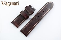 >> Click to Buy << D209 Claret-red Genuine Leather Watch Strap 24/22mm Watchband with Buckle #Affiliate