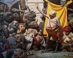 Коржев-Чувелев, Гелий Михайлович. Мутанты. 1982—1993 Холст, масло, 200 х 280 Частная коллекция