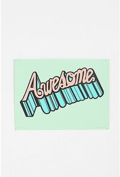 Brainstorm Print & Design Awesome Print - Turquoise