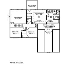 Second Floor Plan of Traditional   House Plan 92367