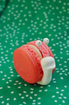 Macaron en forme d'escargot trop mignon