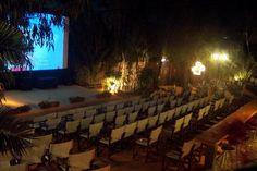 Kamari Santorini, Cinema Architecture, Cinema Experience, Films, Movies, Movie Theater, English Language, Rooftop, Greece
