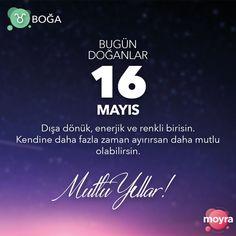 🎂 16 Mayıs doğumlu olan tüm Boğa'lara mutlu yıllar! 🎆 #moyra #moyrabilir #astroloji #boga #bogaburcu #burc #burclar #16mayıs