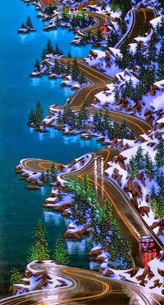 Autoroute Sea to Sky à Vancouver à Whistler, en Colombie-Britannique, Canada