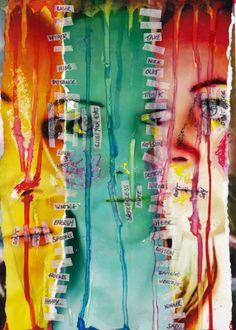 Split personality. Exploring self identity and feelings.
