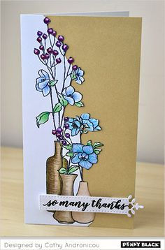 Thank you for joining us here on our blog. Scroll down for card ideas, supplies, and instructions with our designers and crafty friends. This week Cathy Andronicou brings us designs with her colori…