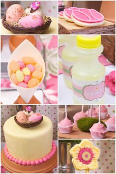 pink sarah foger socker | Pink + Yellow Spring Garden Party - Pizzazzerie