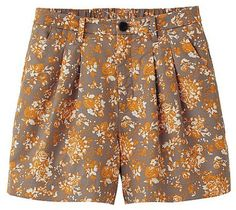 Love this: Cotton Flare Shorts flower @Lyst