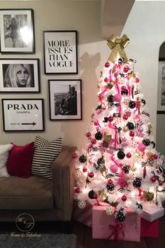 Looking to try something different this year? How about a fabulously girly Christmas tree? HomeGoods has everything you need to make it exactly what you dreamed of! (Sponsored pin)