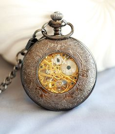 Personalized Pocket Watch Personalized for Groom by emmalocketshop