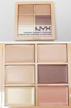 Contour Kits for Pale Skin Nyx Conceal Correct Contour Cream Palette Light - All Things Beauty, Beauty Make Up, Make Up Studio, Makeup Dupes, Drugstore Contouring, Elf Dupes, Eyeshadow Dupes, Lipstick Dupes, Beauty Dupes